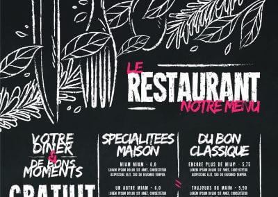 création menu restaurant